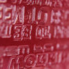 Detalle de material sintético grabado
