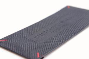 Etiqueta tejida en calidad suprema o premium