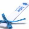 Etiqueta textil con lazo incluido