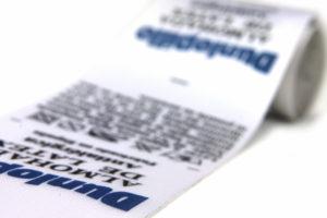 Etiquetas o cintas impresas para textil hogar