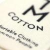 Etiqueta de algodón
