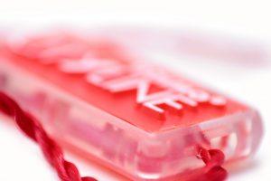 Precinto de plástico rectangular lomo transparente