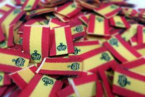 Etiquetas de tela bandera española