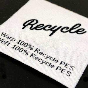 Etiquetas tejidas ecológicas