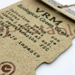 Etiqueta de cartón de hierbas