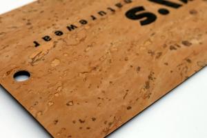Etiqueta de corcho natural