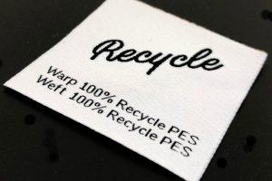 Etiqueta tejida ecológica