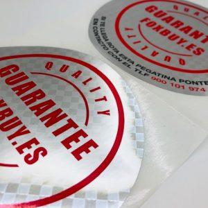 Etiquetas de cartulina y adhesivas en bobina